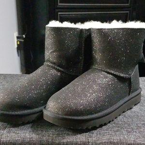 UGG Black Sparkle Boots- Size 7